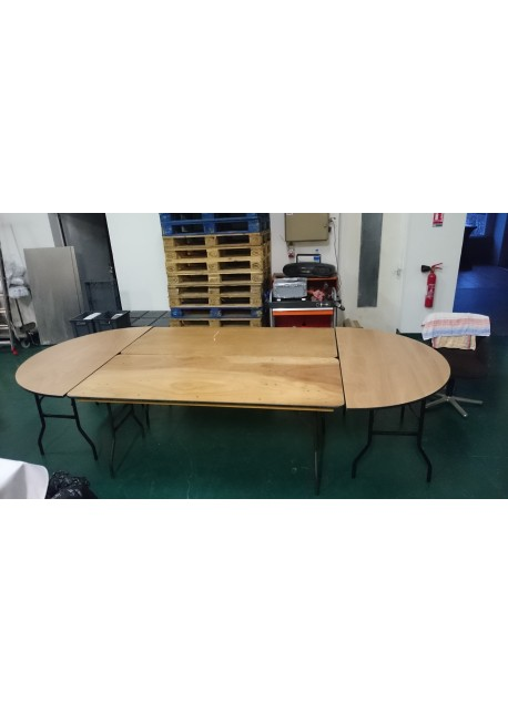 table ovale 12 14 personnes. Black Bedroom Furniture Sets. Home Design Ideas