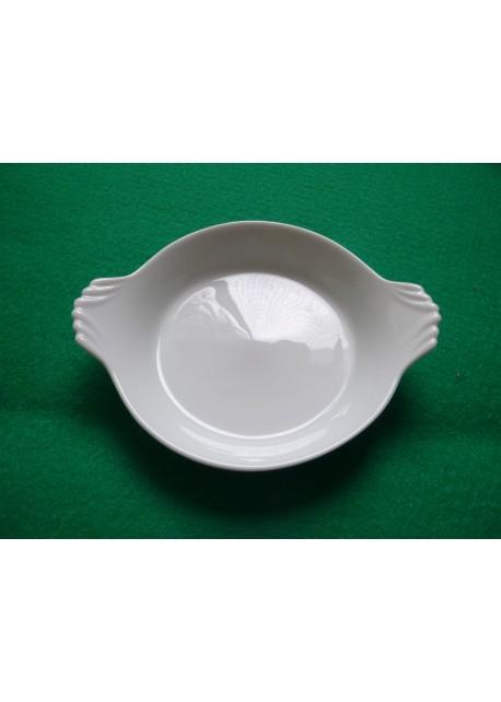 Cassolette à oreilles, porcelaine blanche, diamètre du fond 11 cm