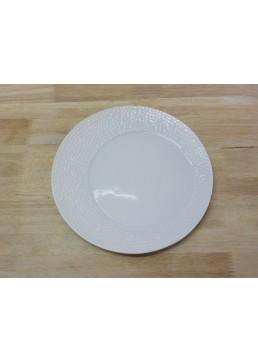Assiette ronde asymétrique martelée 23 cm