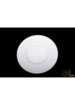Assiette ronde Martelée 27 cm avec centre de 15 cm
